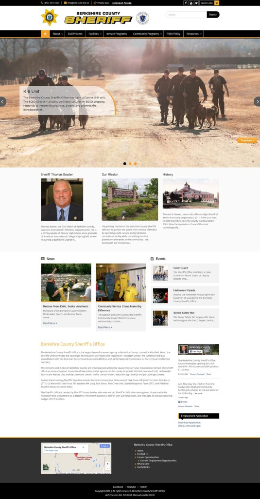Berkshire County Sheriff's Website New